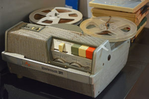 The Wollensak portable reel-to-reel tape recorder used by Thom Savino & Frank Cotolo